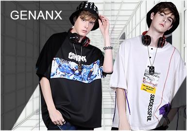 """香港設計師潮牌男裝GENANX于2010年成立,成立之初就被打上叛逆的標簽,不斷以一種顛覆性的理念挑戰固有傳統。黑白分明的閃電君頭像logo和品牌象征著""""力量、激情、創新、顛覆。""""設計師從街頭、嘻哈、藝術、生活等方面汲取靈感,并將本土文化和當下的潮流文化相融合。設計師善于將尋常元素進行解構,加以重新組合,呈現獨特不羈的產品風格。"""