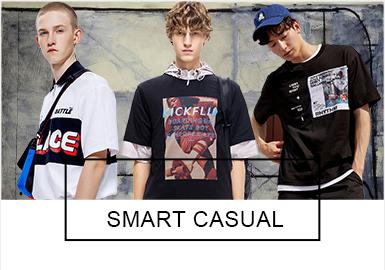 目前國內的時尚休閑品牌當中,GXG、FAIRWHALE及Cabbeen成為市場占有率中重要的時尚男裝休閑品牌。PCACEBIRD和TRENDIANO也緊隨其后。近期的這些時尚休閑品牌聯名合作、發布新品受到大肆歡迎。拼接,印花、文字元素還是占據主要地位,休閑短袖帽衫作為后起之秀受到多數人的關注。工裝褲和Polo衫還是一大趨勢,而工藝方面各個品牌也做到更加精細化。
