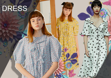 少淑女风格的连衣?#21246;?#25645;上除了甜美可爱的连衣裙廓形外,也会在这一季注重色彩的选取、面料花型选用等方面,注重强调不同花卉效果带给人们一种特有的少淑感受穿搭风格。其中主要讲述:文艺粉色系、恬静式波点裙、素雅小花裙、餐?#26639;?#32441;裙、简约枝丫花卉裙、以及民?#36164;?#23569;淑裙等内容进行不同维度展现连衣裙少淑穿搭风格。