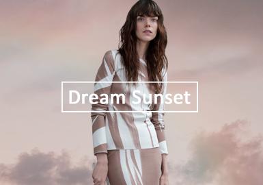 夢幻晚霞--女裝毛衫單色彩趨勢