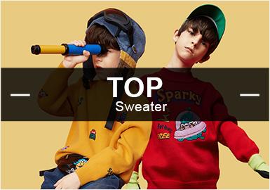 根據POP8月男童毛衫數據庫的分析,風格主要以時尚休閑與學院風為主。款式方面,套衫款式的受關注較高,其次為背心和開衫。工藝方面提花的占比最大,其中多以文字、動物、條紋、幾何為主。