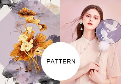 東方綺夢--女裝中式禮服圖案趨勢