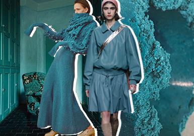陶瓷藍--女裝主題色彩趨勢