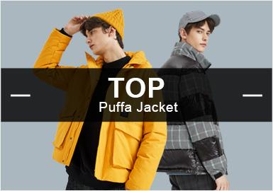 根据POP8月份用户下载量的TOP100男装棉羽绒数据分析,时尚休闲类羽绒单品依旧占据市场主流方向,相比上月有所下降。时尚机能风有所上浮。迷彩元素成为秋冬季棉羽绒单品设计的重要元素,贴布工艺与上月相比持平。