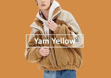 甘薯黃--男裝皮革皮草單色彩趨勢