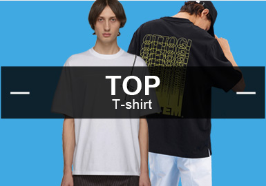 9月份款式庫T恤單品流行方向分析,時尚休閑類風格相比8月有小幅度下降,街頭潮牌和運動休閑風格持續穩定。人物圖案印花相比8月有3%的提升空間。而字母圖案和拼接工藝也是T恤設計最主要的設計元素和工藝手法,占比相比之前差距不大。