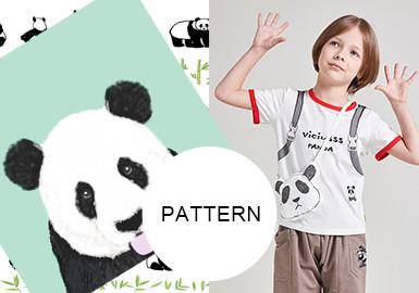 國寶熊貓--童裝圖案趨勢