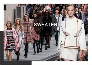 2020春夏的巴黎与米兰时装周在众多知名设计师与国际时尚品牌的打造下闪耀着魅力形态,通过精美绝伦的剪裁、极富创意的设计诠释现代女性着装,工艺及细节的刻画,博得了俞飞鸿、辛芷蕾等精英女性阶层的喜爱。为了满足更多时尚人士生活场景需求的多元化穿搭以及女装毛衫单品的研发,重点分析与提炼关键色彩、工艺、图案等多项维度带来这篇秀场综合报告。