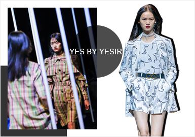 "YES BY YESIR品牌創立于2013年,設計師葉謙旨在以品牌為橋梁傳遞源自中國的""新經典""時尚美學與""新優雅""風格見解。日前,YES BY YESIR 2020春夏系列""FACE?臉""在上海新天地太平湖公園如期開秀。品牌為現場嘉賓們送上了一場集結時裝藝術、裝置空間藝術、實驗音樂交錯融合的時尚盛宴。而設計師葉謙以全新的時裝概念重新定義了未來一年時尚界即將引爆的""FACE·臉""元素。"