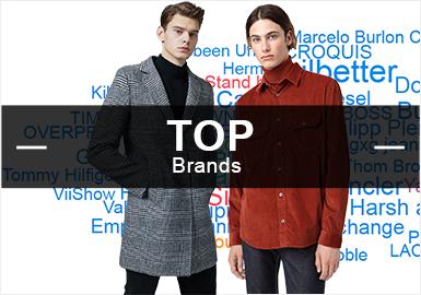 商务男装依旧占据着男装市场的一半之多,本篇针对2019年第三季度商务休闲品牌关注数据进行整理,提炼出市场点击热度和话题性极高的品牌大数据排名榜以及风格、细节等多个角度进行分析。精湛的工艺、考究的面料、稳重的色彩及少量的图案点缀融合服饰的实用性,这些都代表着商务男装的考究部分,除了一线大牌在市场上的关注度外,小众的韩国品牌System Homme,国内的ME & CITY等都占据了一定的占比。
