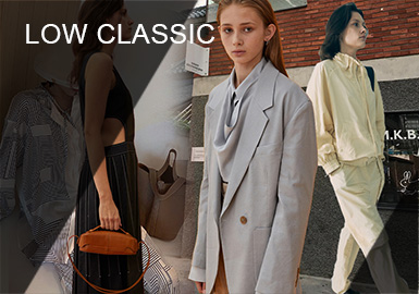 LOW CLASSIC具有现代极简主义的审美观,其主要理念基于古典主义和机智的并存,并试图通过年轻,富有创意的时尚来表达女性真实美。 LOW CLASSIC利用时尚的面料,经典的轮廓和创新的细节,确立了其作为新设计师品牌的态度。 该系列注重实用性,成衣设计,每个季节都会开发原始媒介,以简单,自然而又朴素的自然优雅为灵感。