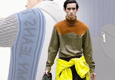 拼接的多元共生化--男裝毛衫工藝趨勢