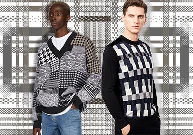 格紋異變--男裝毛衫圖案趨勢
