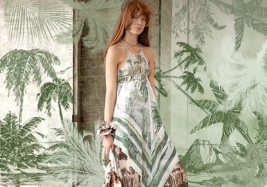 塞舌爾日光叢林--女裝圖案趨勢