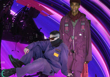 机动紫--男装色彩演变