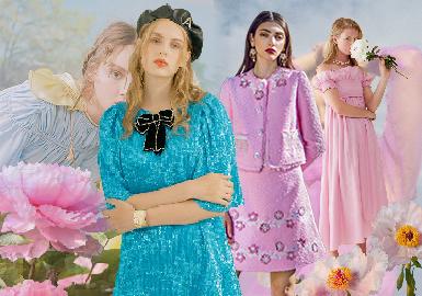 暮春三月,莺飞草长,告别了春寒料峭。在初夏伊始的时节,繁花似锦盛放,一片春意盎然的粉嫩多彩景象,像极了少女的浪漫多情。本篇主打明亮而缤纷的多彩色调,加入中性色及淡雅色系进行阐述。以2020春夏新锐设计师品牌为主要资料来源,少淑女风格为主旋律,用服装色彩带你走进美与浪漫的时光,领略纯真与希望的少女世界。