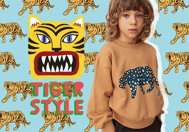 迷人虎豹--童裝圖案趨勢