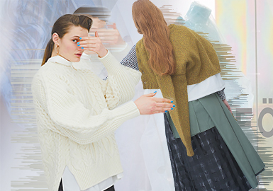 ENFOLD隸屬于Baroque Japan Limited(巴洛克日本有限公司),ENFOLD能夠緊抓時下流行元素,滿足當下消費者的個性需求,用簡潔的結構設計表達品牌追求的簡約時尚態度,傳達出時尚并非追求旁人的認可而是對于自我的思想與風格充滿自信的理念。19/20秋冬毛衫系列重點通過拼接、裁剪等工藝,描繪出精致的輪廓,強調穿著者的舒適感和全新感受的人體外形輪廓。