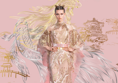 綺羅珠履宮廷刺繡--女裝圖案趨勢