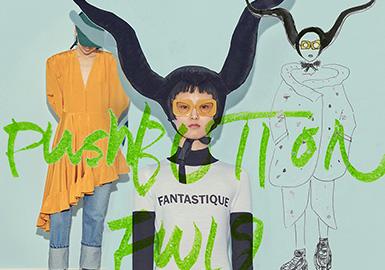 """近兩年竄紅瘋靡全球,成為韓國迅速崛起代表的設計師品牌Pushbutton ,于2003 年由Seung Gun Park 創立,Park 曾是一名 K-Pop 明星,他將麥當娜視為靈感繆斯,并選取其歌曲《好萊塢》中的一句""""Push the button, don't push the button""""為品牌命名。品牌旨在通過對立元素的結合,打造亮眼而俏皮的街頭服飾。本季主題為""""beautifiedthe typically unflattering"""" ,以裝置藝術頭飾展現""""unflattering""""主題,戲劇化的造型與許多復雜的輪廓剪裁形成鮮明對比。"""