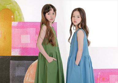 微束感视界--女童连衣裙廓形趋势