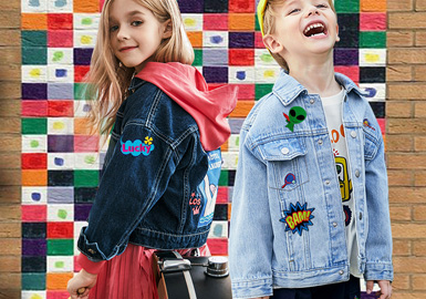 徽标新形态--童装牛仔外套工艺趋势