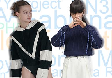 基于2019全年用户浏览及搜索互动数据推选出女装毛衫年度设计师品牌TOP30排行榜,选取实用性品牌作重点推荐,提炼品牌共同的关键设计元素作针对性分析,总结优异设计,助力毛衫市场新季开发。