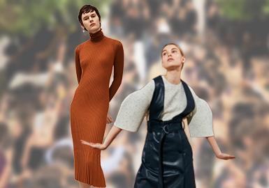 2020年人们不再通过男女同化来展现个性,而是开始正视女性自身,挖掘原始的女性内涵。在2020早秋秀场的毛衫款式在整体风格上更加偏向于成熟优雅。很多品牌开始逐渐走出休闲中性的风格,开始从模糊性别界线向探讨女性的原始美转变。毛衫细节的设计上也减少了大面积的肌理感,更多的是在细节上进行精致简单的设计。对于色彩的运用也更加大胆,丰富又高级的自然色被设计师们发掘出来运用在毛衫的设计上。