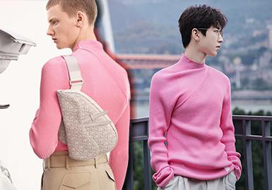 在大众的潜意识中,明星是潮流风向标,在追求同款的过程中,在精神层面达到一种自我满足。相较于小众化、设计师品牌,DIOR MEN、Gucci、Fendi以及Chanel四个奢侈品牌的毛衫款式在男明星中的出镜率会更高,国内市场的关注度依然高涨,明星对于品牌的精彩诠释带动大众购买力,也进一步获取了品牌方的关注与青睐,利于提升时尚资源。