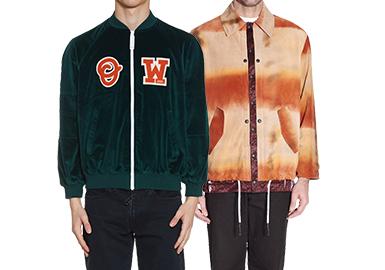 20/21秋冬男装订货会在夹克以往的设计基础上进行创新设计,赋予款式更多的创意与选择。棒球款式、工装款式和颗粒绒夹克依然得到延续,在设计上以简洁为主,细节和图案的点缀让款式也增加了精致感和时尚度。一直活跃于时尚圈的牛仔夹克在今季以全新的设计出现,也将成为20/21秋冬的主流趋势。而图案的设计是每季都会出现的元素,跳跃的色彩和抽象的设计都增加了款式的个性和前卫度。突发的疫情也将使具有防护功能性的夹克成为新一季的款式趋势。