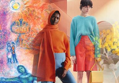 来自马克·夏加尔的梦幻世界--女装毛衫主题色彩趋势