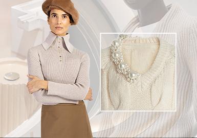 """翘首引""""领""""--女装毛衫工艺趋势"""