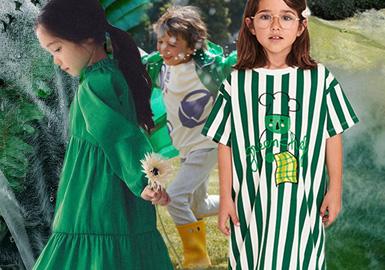 冬青绿--童装色彩演变