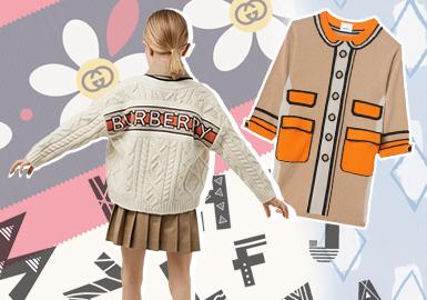 简约化的经典元素--女童毛衫图案趋势