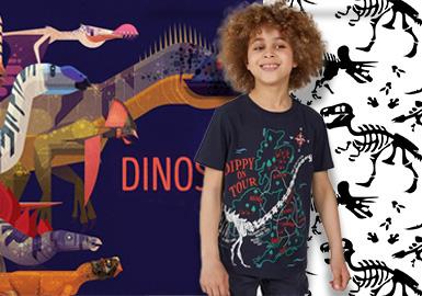 百变恐龙--童装图案趋势