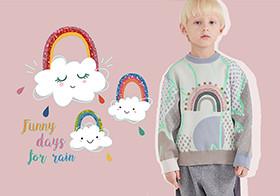 彩虹与云朵--童装图案趋势