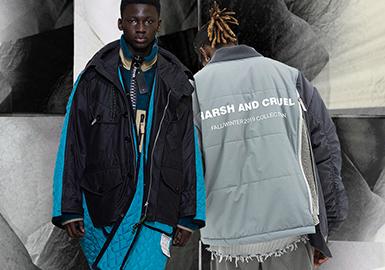 時尚解構&拼接--男裝棉羽絨服廓形趨勢