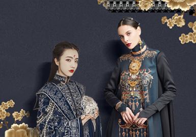 古之韵--女装中国风礼服刺绣图案工艺