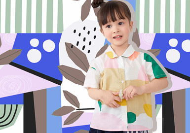 闲适大色块--童装图案趋势