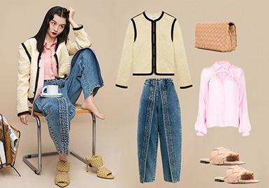 通勤演绎--女装牛仔裤组货搭配