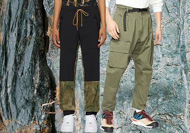 重塑&新興--都市戶外男裝褲裝廓形趨勢