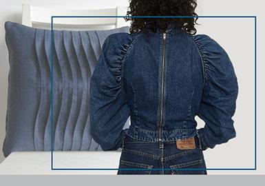 張弛有度「不止褶皺」--女裝牛仔工藝趨勢