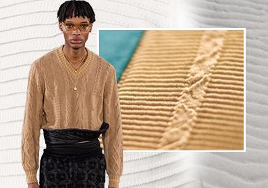 精雕细琢--男装毛衫针法工艺趋势