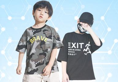 根据5月份用户下载量男童T恤TOP100数据分析,日韩风格(25%)与时尚休闲风(51%)关注度持续不减,占比相对较高。集街头潮牌与时尚休闲一体的微潮风格也越来越成为大家的观关注重点。图案方面则依旧以字母、动物印花为主,以更新潮趣味的表现形式展现服装时髦感。