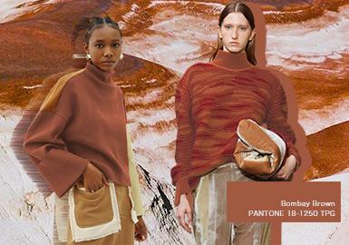孟买褐--女装毛衫色彩趋势