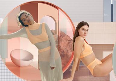 新冠疫情过后,内衣的前景依旧美好,舒适内衣表现稳定,亮色和宅度假风格在线上打造了积极氛围。宅家度假主题拉动了百搭家居服单品的发展,舒适仍是关键,柔软透气的面料、无钢圈文胸、无缝内衣都迎合了消费者对舒适产品的需求。配套服装鼓励消费者购买全套服装和跨品类服装。受运动文胸 (年同比+84%) 和套入式文胸影响,打底裤和套入式居家文胸在2020春夏新品中涌现,占英国线上零售市场文胸类别的2%,多件购买、捆绑销售能为消费者省钱,同时也能清库存。