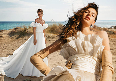 褶 ? 飾--女裝婚紗禮服工藝趨勢