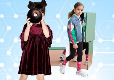 综合标杆品牌MQD、little MO&Co.、Mini Peace、Balabala和GXG.kids的女童款式设计,并对当月淘宝天猫的销售数据进行分析,亮丽的黄色、时尚的荧光点缀、格条、网纱、细节荷叶是当下消费者关注重点,结合不同品类进行设计带来时尚享受。