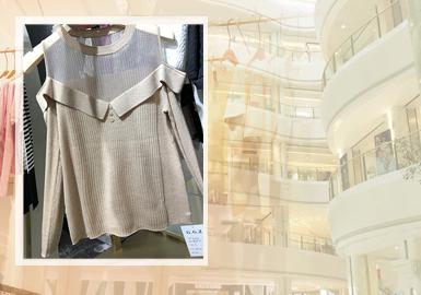 桐乡濮院作为毛衫最重要的批发市场,一直以来更加注重中大淑风格的推广,在上个月的早秋新款中,我们发现,优雅中淑的毛衫风格比例再攀升,而较为活力的少淑女毛衫款式占比也明显回升,这迎合了越来越多的客户需求,与近几季年轻风格线的网红品牌崛起也有很大的关系。