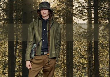 苔绿色--男装皮衣皮草色彩趋势
